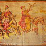 """Teppich """"Falkenbeize"""" (Ende des XVIII. Jahrhunderts). Vor."""