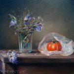 Khakifrucht, 40x50, Pastell