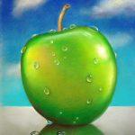 Apfel, 40x50, Pastell