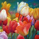 Tulpen, 30x40, Pastell