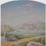 Skizze zur Wandmalerei nach Motiven der Gemälde von älteren Meistern im Restaurant, Kiew