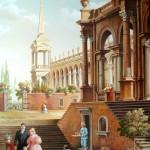 Freie Kopie des Gemäldes von Antonio Visentini, 50x70, Acryl