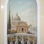 Wandmalerei im Vorraum, 4 qm, Privatwohnung, Kiew