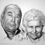 Brigitte und Beno, 30x40, Graphit
