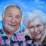 Brigitte und Beno, 50x65, Pastell
