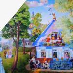 Ein blaues Haus