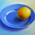 Einsame Zitrone, 30x40, Pastell