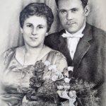 Hochzeitsportrait, 30x40, Graphit