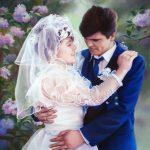 Hochzeitsportrait, 50x65, Pastell