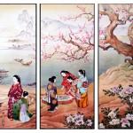 Japanerinnen, 40x50, Aquarell
