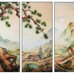 Japanische Landschaft, 70x90, Aquarell