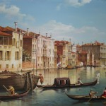 Freie Kopie des Gemäldes von Giovanni Antonio Canal (Canaletto), 50x70, Acryl