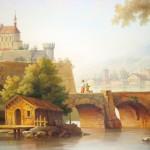 Wandmalerei nach Motiven der Gemälde von älteren Meistern im Weinkeller, Privatvilla, Kiew