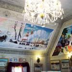 """Wandmalerei im russischen Restaurant """"Na Sdorowje"""", Gleicherwiesen"""