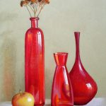Rote Vasen, 30x40, Pastell