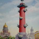 """Wandmalerei in der Gaststätte """"Sankt-Petersburg"""", Bodelwitz"""
