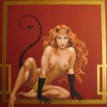 Wandmalerei nach Motiven der Gemälde von B.Vallejo im Nightclub, Bad Kreuznach
