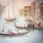 Wandmalerei nach Motiven der Gemälde von älteren venezianischen Meistern, Privathaus, Kiew