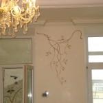 Wandgestaltung im Eßzimmer, Privatwohnung, Kiew